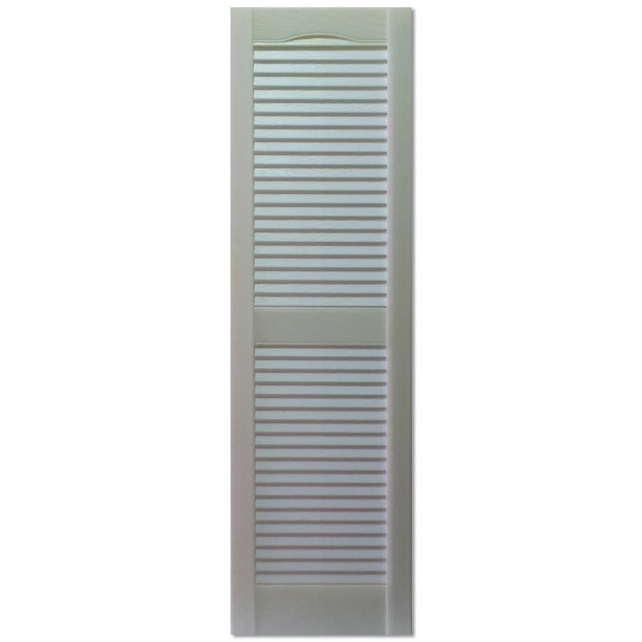 Shop Custom Shutters Llc 2 Pack Paintable Louvered Vinyl Exterior Shutters Common 16 In X 55