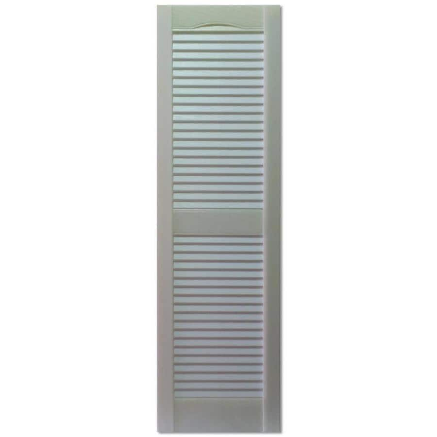 Lovely Custom Shutters Llc. 2 Pack Paintable Louvered Vinyl Exterior Shutters  (Common: 16