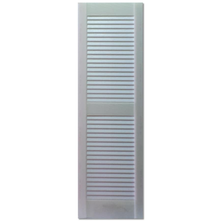 Shop Custom Shutters Llc 2 Pack Paintable Louvered Vinyl Exterior Shutters Common 16 In X 47