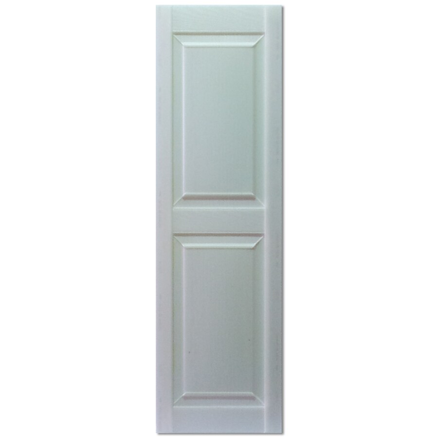 Custom Shutters llc. 2-Pack Paintable Raised Panel Vinyl Exterior Shutters (Common: 14-in x 54-in; Actual: 14.5-in x 54-in)