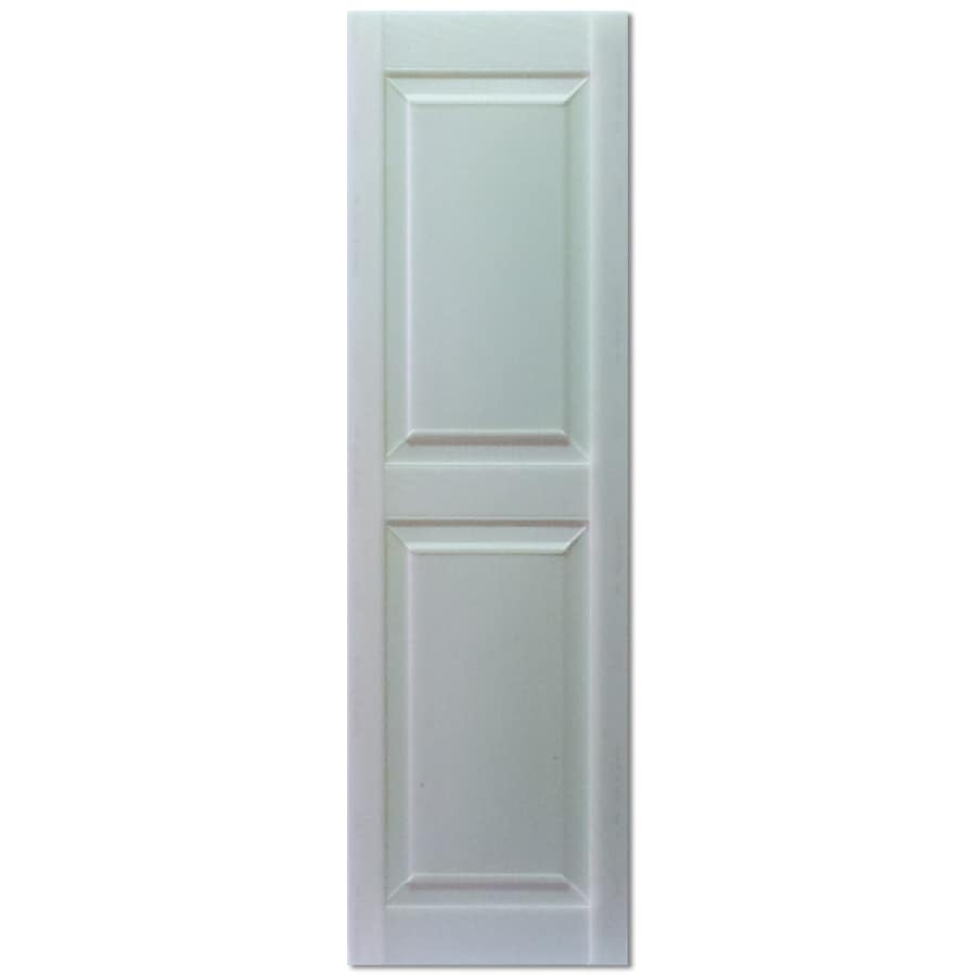 Custom Shutters Llc. 2 Pack Paintable Raised Panel Vinyl Exterior Shutters  (Common:
