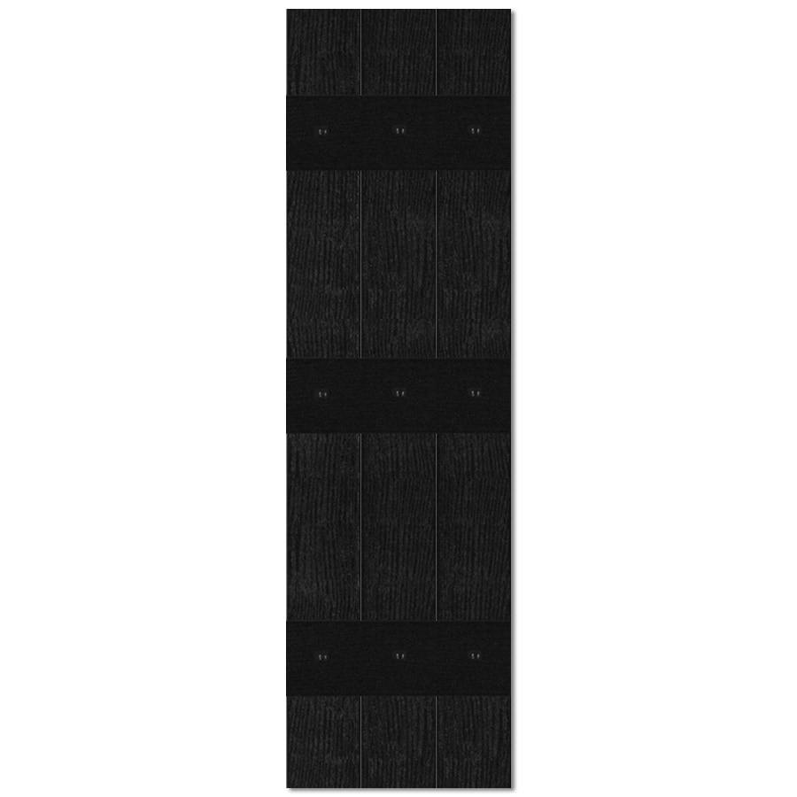 Custom Shutters llc. 2-Pack Black Board and Batten Vinyl Exterior Shutters (Common: 13-in x 47-in; Actual: 13.526-in x 47-in)