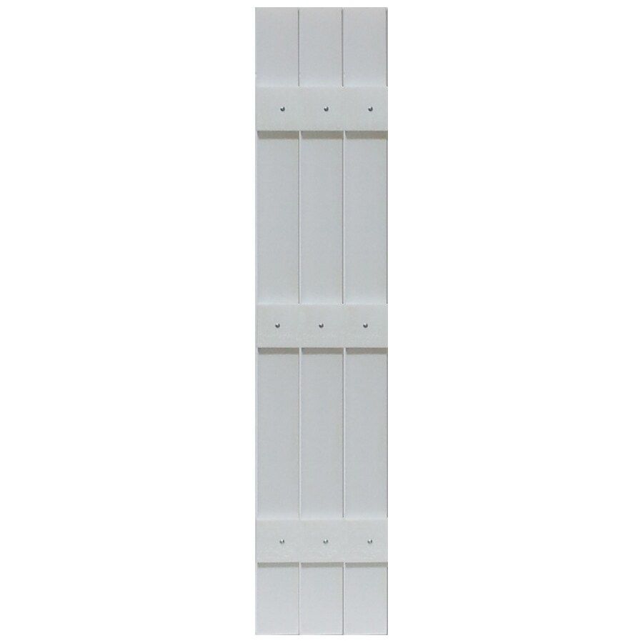Custom Shutters llc. 2-Pack Paintable Board And Batten Vinyl Exterior Shutters (Common: 13-in x 55-in; Actual: 13.526-in x 55-in)