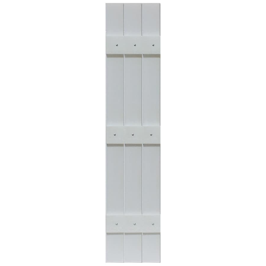 Shop Custom Shutters Llc 2 Pack Paintable Board And Batten Vinyl Exterior Shutters Common 13