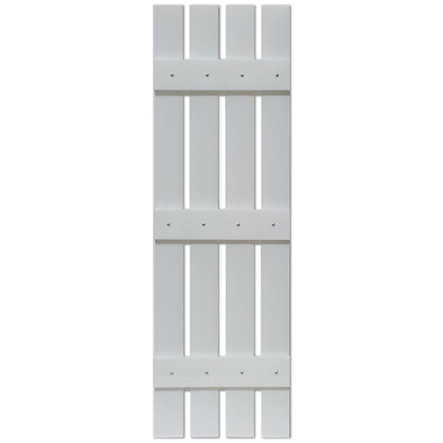 Custom Shutters llc. 2-Pack Paintable Board and Batten Vinyl Exterior Shutters (Common: 16-in x 63-in; Actual: 16-in x 63-in)