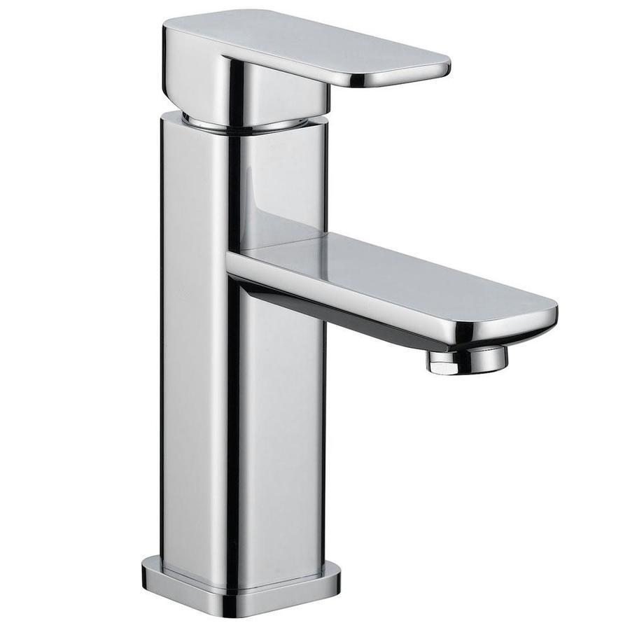 Modern Centerset Bathroom Faucets: Modern Chrome 1-Handle Single Hole/4-in Centerset