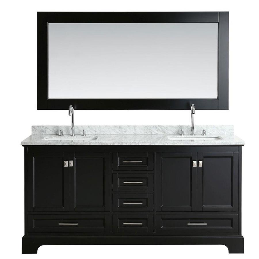Design Element Omega 72 In Espresso Double Sink Bathroom
