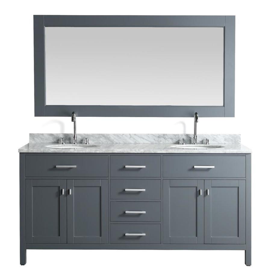 Design Element London 72-in Gray Double Sink Bathroom ...