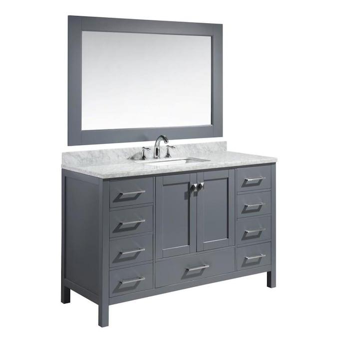 Design Element London 54-in Gray Single Sink Bathroom ...