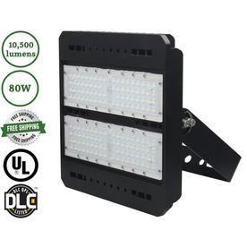 Led Trail Sunriver G2 Flood Light 10500 80 Watt Black Line Voltage