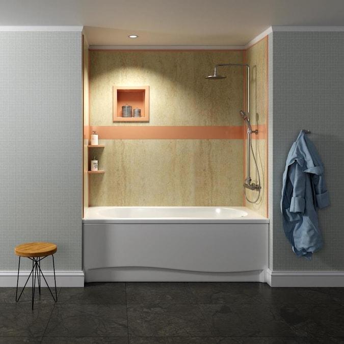 bella core baja sand baja sand panel kit shower wall