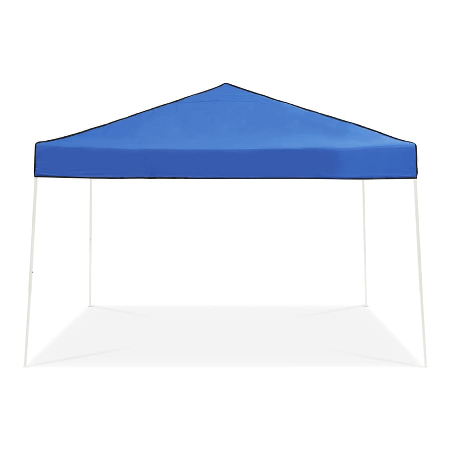 Z-Shade 12-ft W x 12-ft L Square White Steel Pop  sc 1 st  Loweu0027s For Pros & Shop Z-Shade 12-ft W x 12-ft L Square White Steel Pop-Up Canopy at ...