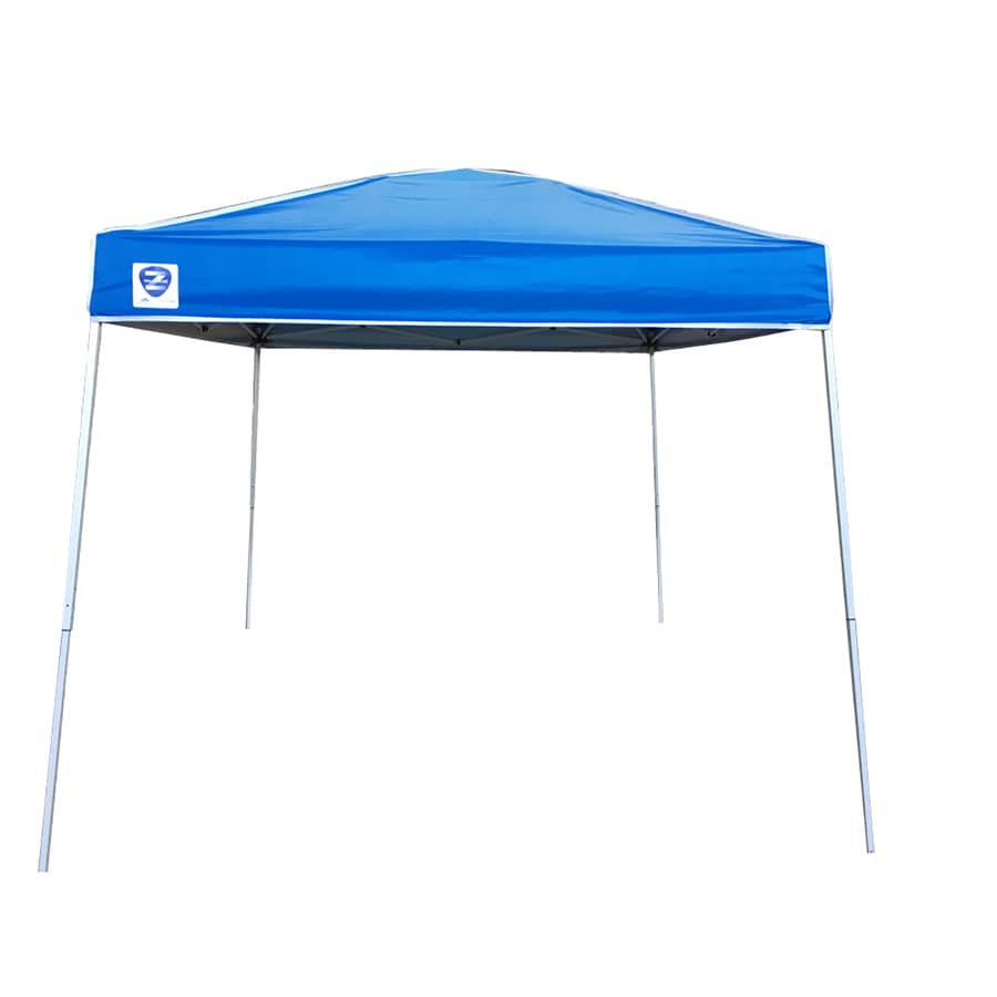 Z Shade 10 Ft L Square Blue Pop Up Canopy At Lowes Com