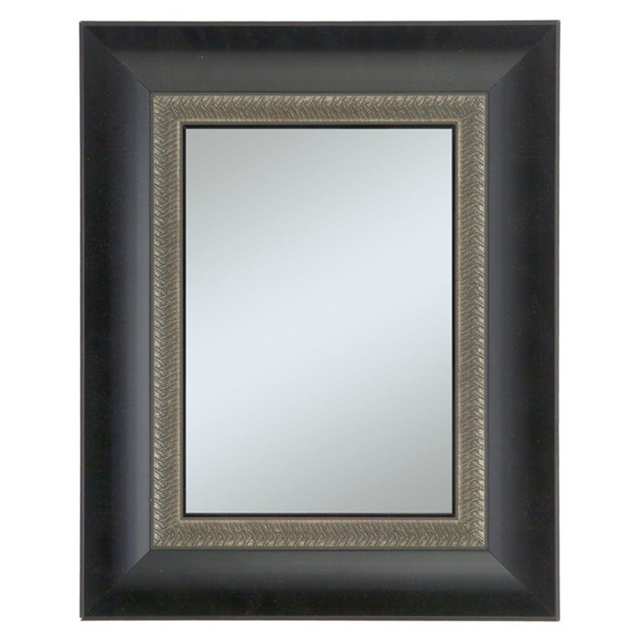 Alpine Art & Mirror 27-in x 33-in Black Rectangle Framed Wall Mirror