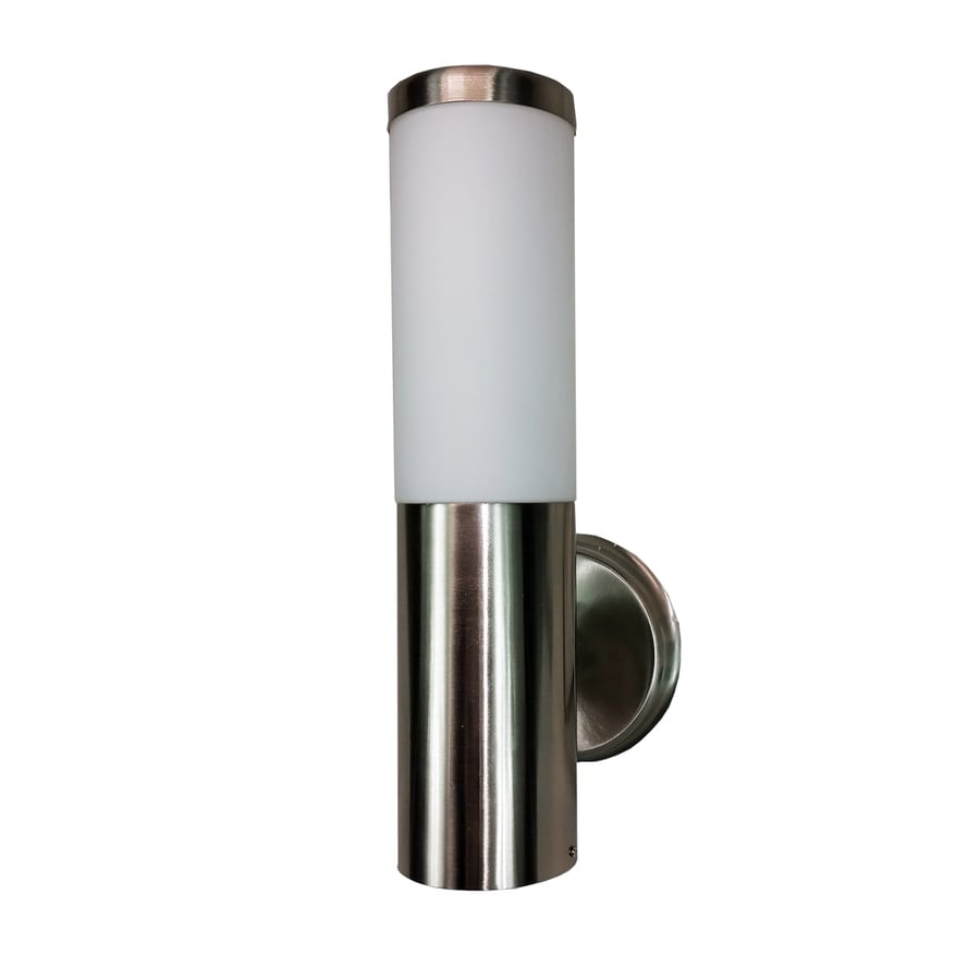 eLIGHT Orion 13-in H Brushed Stainless Steel LED Outdoor Wall Light