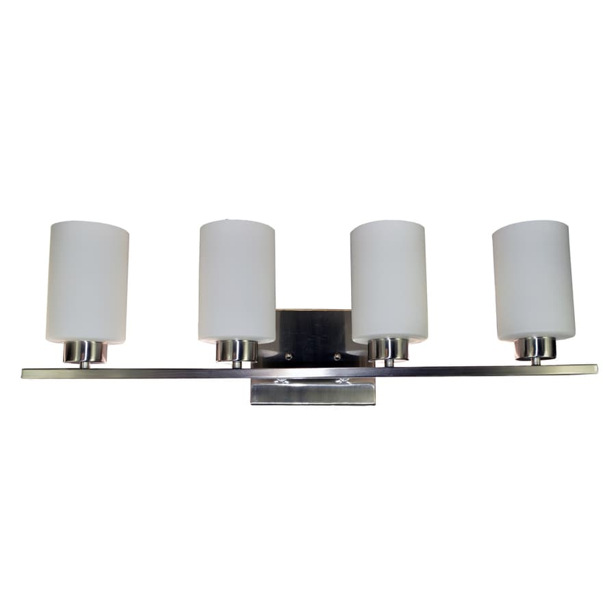 eLIGHT Dakota 4-Light 8-in Brushed Nickel Cylinder Vanity Light