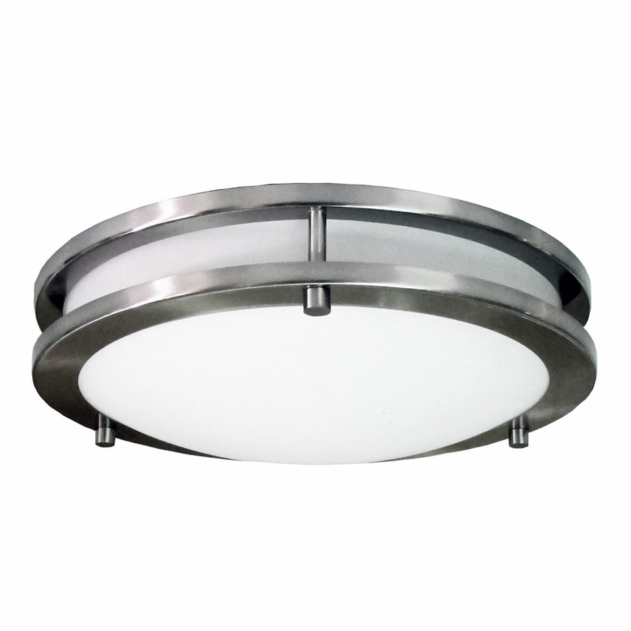 eLIGHT Saturn 12-in W Brushed Nickel Flush Mount Light