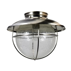 ELIGHT Coastal 11.25 In W Brushed Stainless Steel Outdoor Flush Mount Light