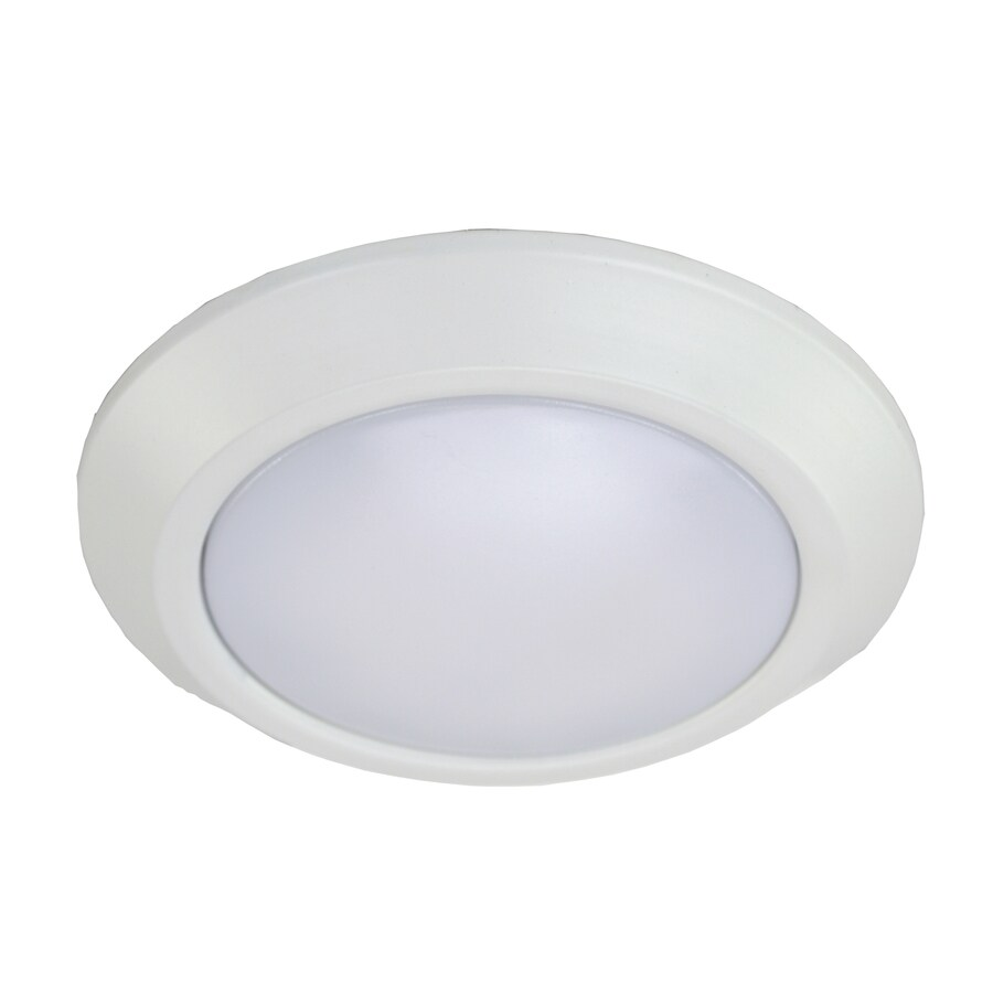 eLIGHT BuilderSelects 6-in W White Integrated Flush Mount Light