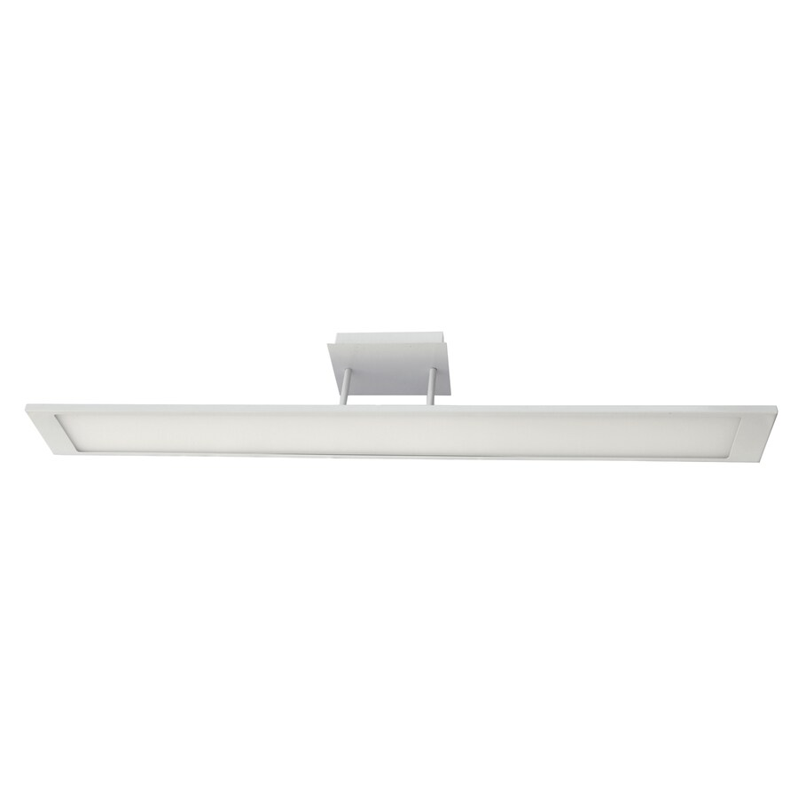 eLIGHT Contempo 47-in W White Integrated LED Flush Mount Light