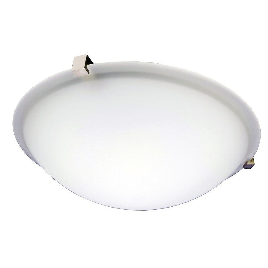 eLIGHT Contempo 14-in W Brushed nickel Flush Mount Light