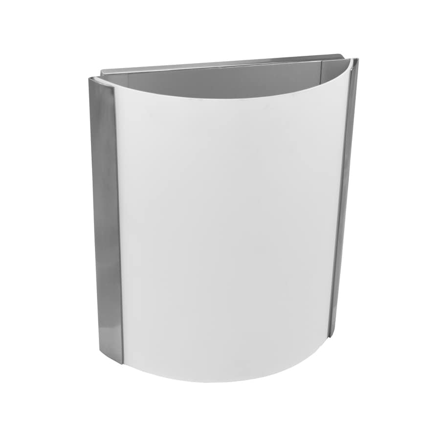eLIGHT Contempo 8.75-in W 1-Light Brushed Nickel Pocket Wall Sconce