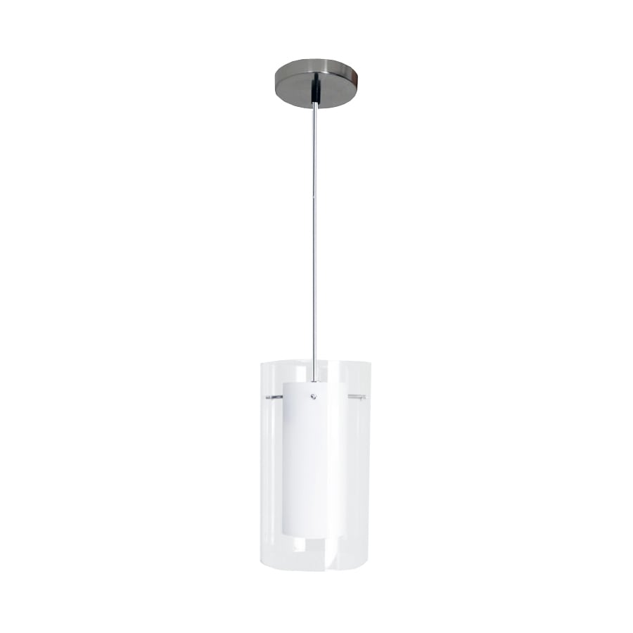 eLIGHT Contempo 5-in Brushed Nickel Mini Cylinder Pendant