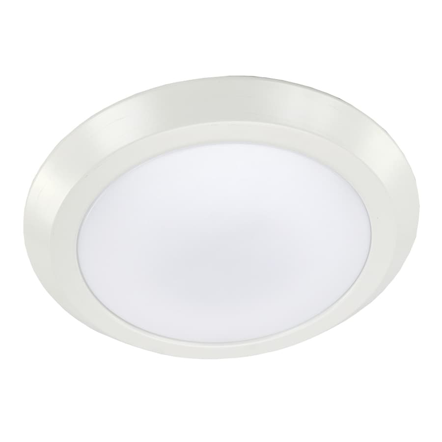 eLIGHT BuilderSelects 12-in W White LED Flush Mount Light