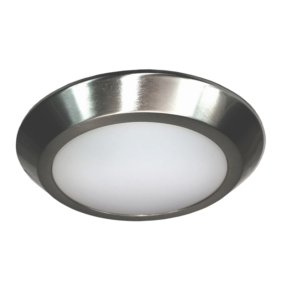 eLIGHT Builderselects 7.75-in W Brushed Nickel LED Flush Mount Light