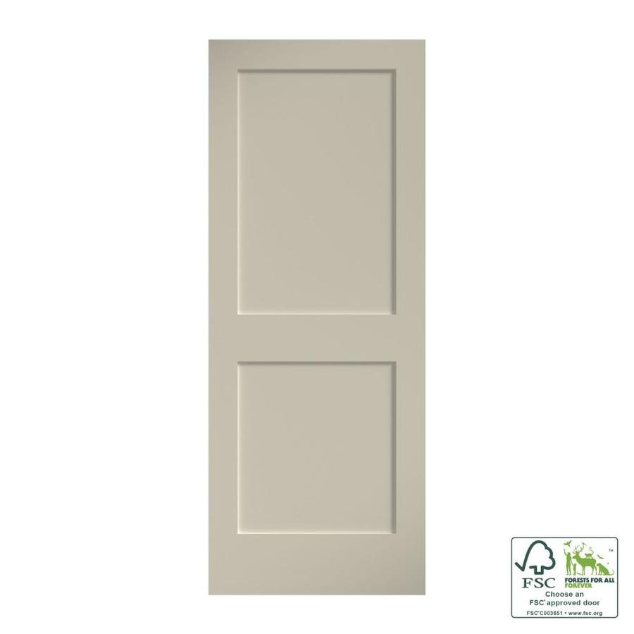 Eightdoors Shaker Primed White 2 Panel Square Solid Core