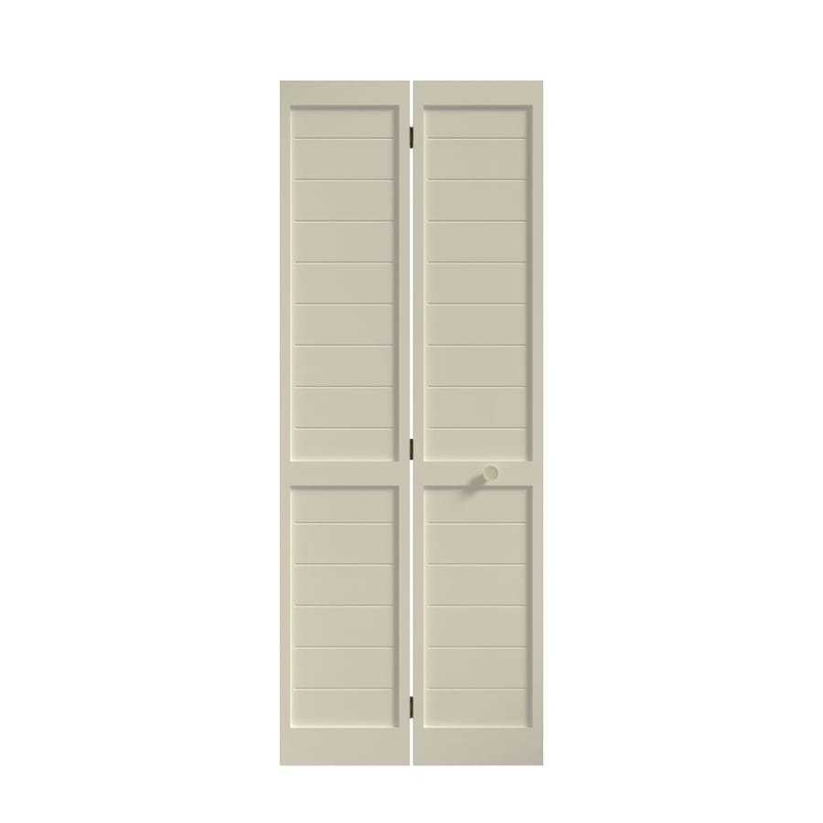 Eightdoors Shaker Primed White Louver Solid Core Mdf Slab Door Common 36 In