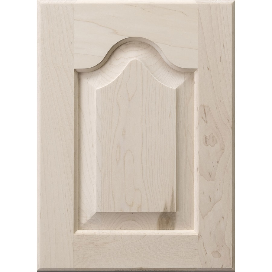 Surfaces Raleigh 11-in x 15-in Wood Unfinished Maple Arched/Cathedral Cabinet Sample