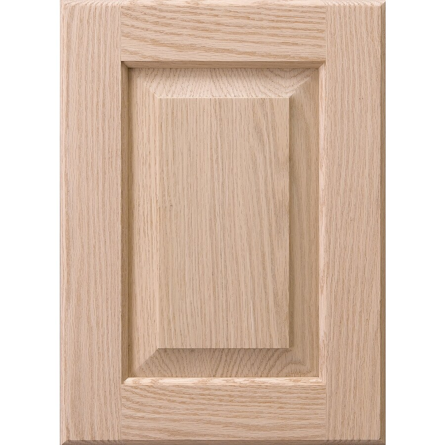 Surfaces 10-in W x 28-in H x 0.75-in D Red Oak Cabinet Door Front