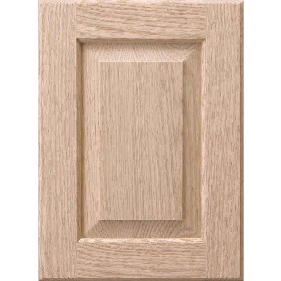 Surfaces 10-in x 28-in Red Oak Cabinet Door Front