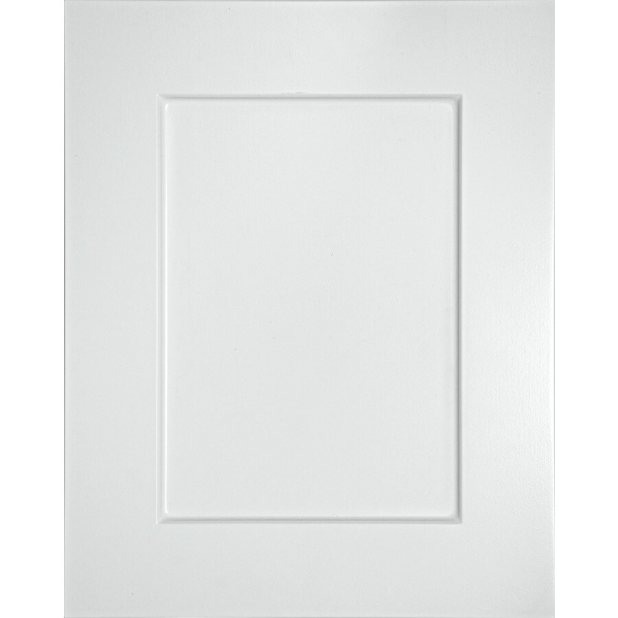 Surfaces 10-in x 28-in White Rigid Thermofoil Cabinet Door Front