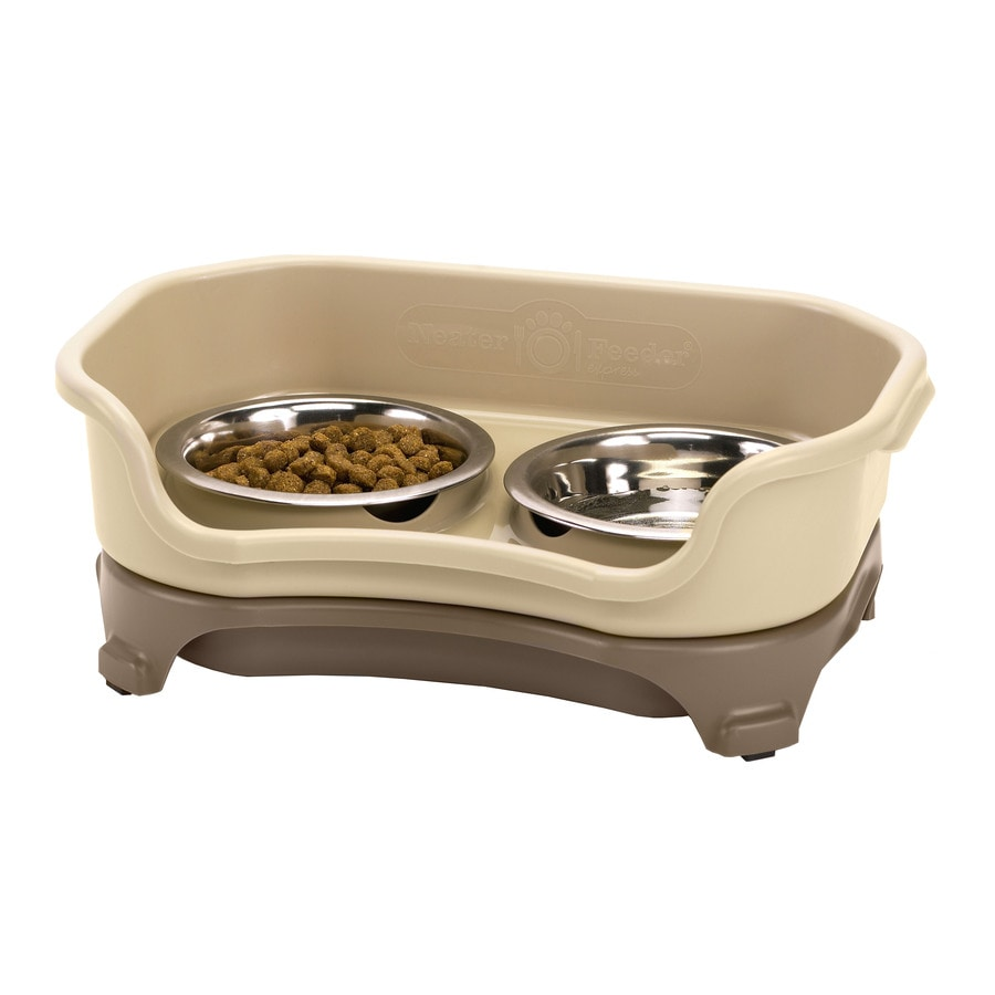 Neater Pet Brands Cappuccino Combination Double Basin Pet Bowl