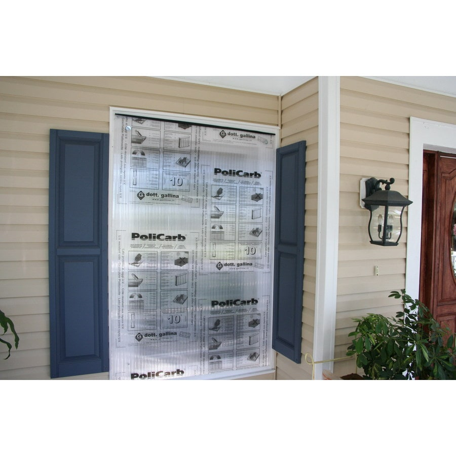 HurriGuard 48-in x 96-in Clear Polycarbonate Hurricane Panels