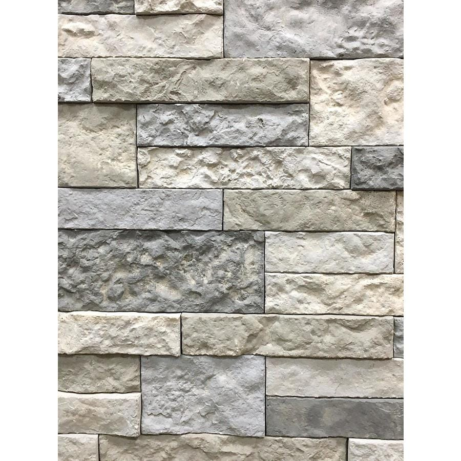 Shop AirStone 8-sq ft Spring Creek Primary Wall Faux Stone Veneer at ...