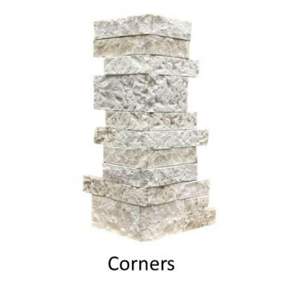AirStone Birch Bluff 6-lin ft Outside Corner/Finished End Stone Veneer Trim