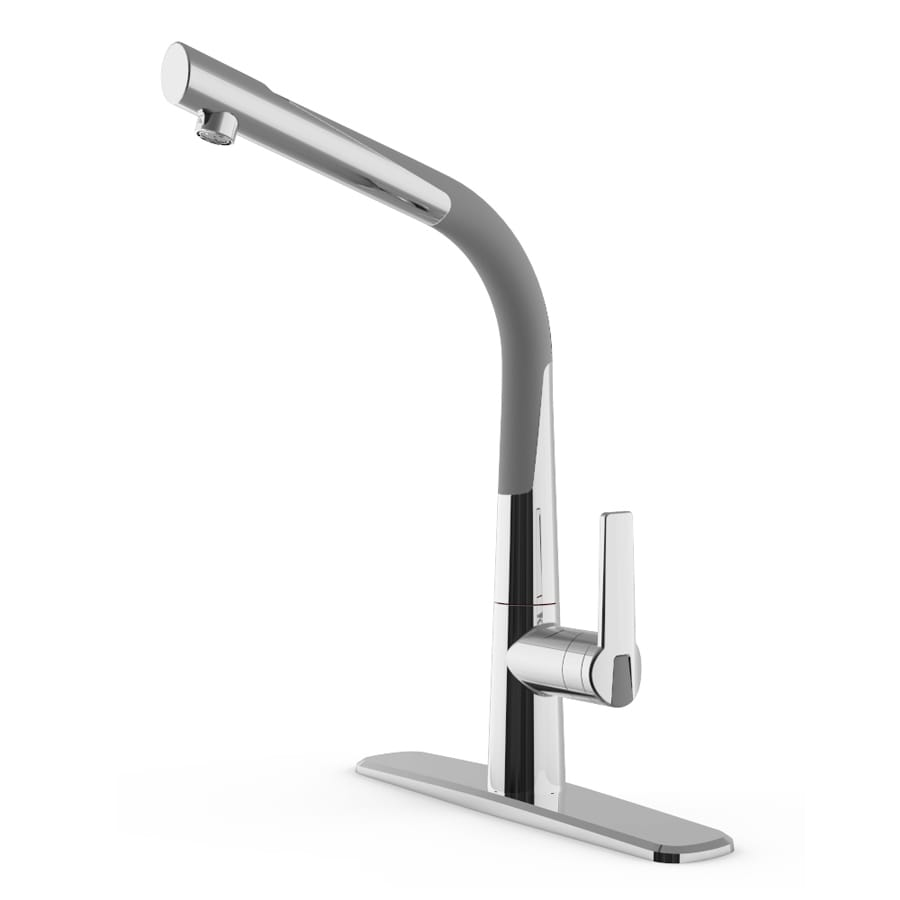 Commercial Bathroom Faucets : ... Gray/Chrome 1-Handle-Handle Commercial Bathroom Faucet at Lowes.com