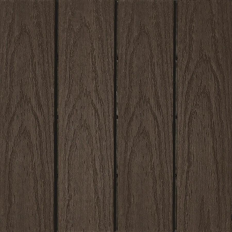 NewTechWood UltraShield Naturale 1 ft. x 1 ft. Quick Deck Outdoor Composite Deck Tile in Spanish Walnut (10 sq. ft. per box)