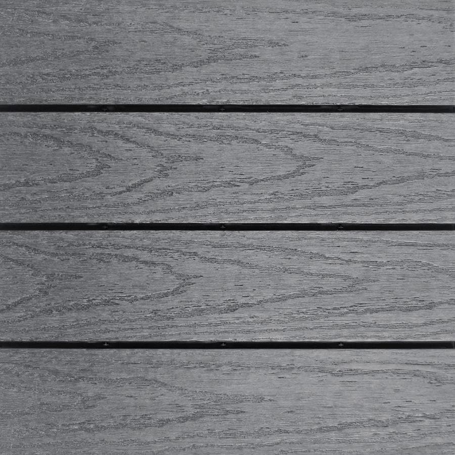 NewTechWood UltraShield Naturale 1 ft. x 1 ft. Quick Deck Outdoor Composite Deck Tile in Westminster Gray (10 sq. ft. per box)