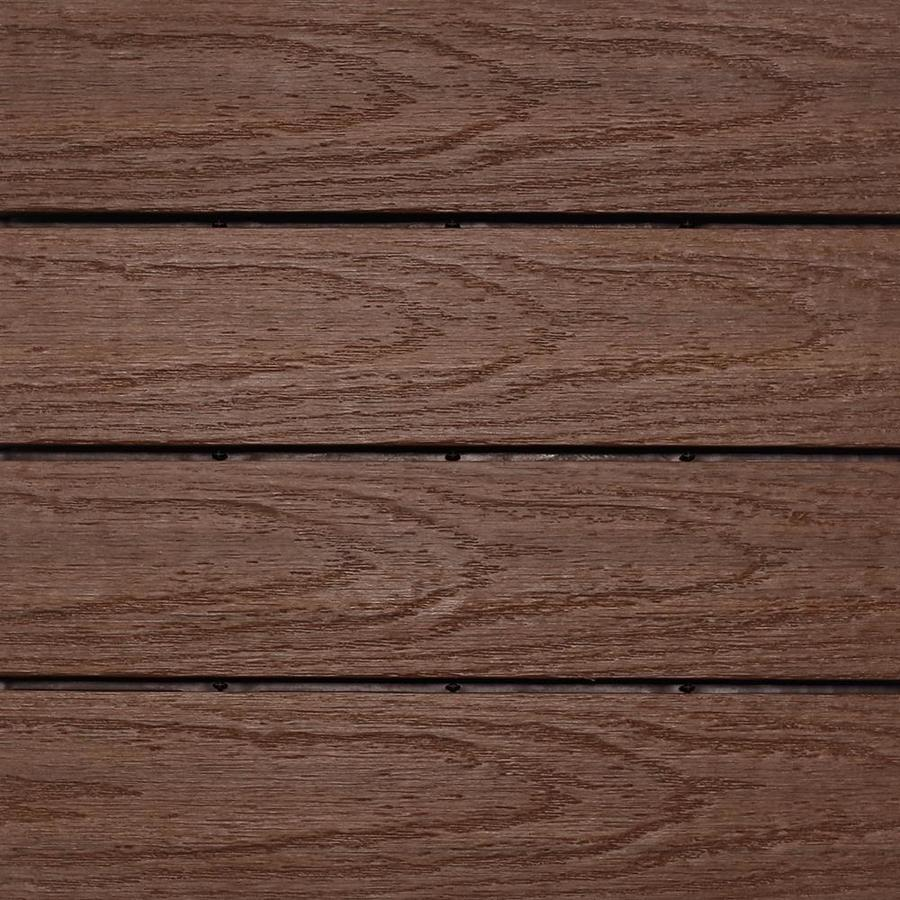 NewTechWood UltraShield Naturale 1 ft. x 1 ft. Quick Deck Outdoor Composite Deck Tile in California Redwood (10 sq. ft. per box)