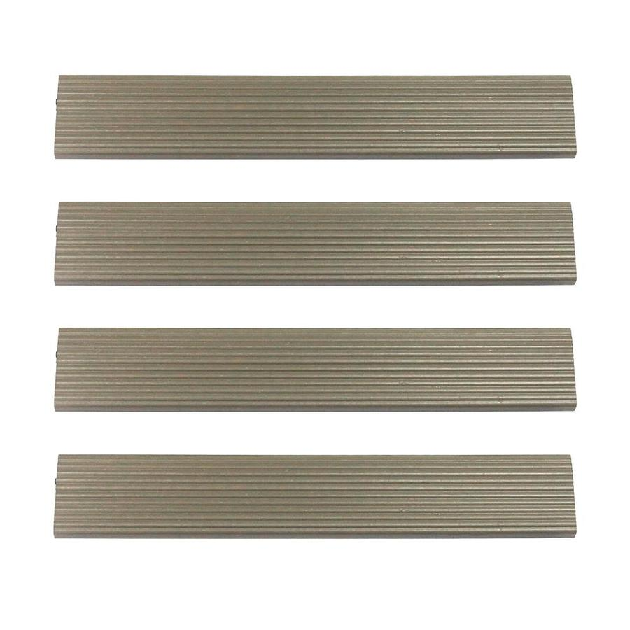 NewTechWood 1/6 ft. x 1 ft. Quick Deck Composite Deck Tile Straight Trim in Egyptian Stone Gray (4-Piece/Box)