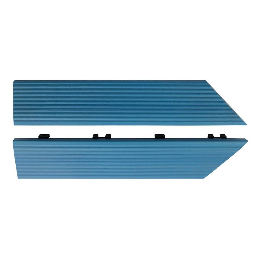 NewTechWood 1/6 ft. x 1 ft. Quick Deck Composite Deck Tile Inside Corner Trim in Caribbean Blue (2-Piece/Box)