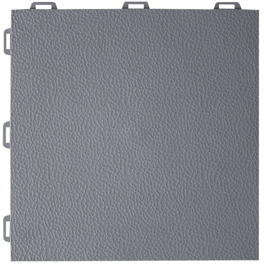 NuTek 12-in x 12-in Gray Loose Lay PVC Plastic Tile