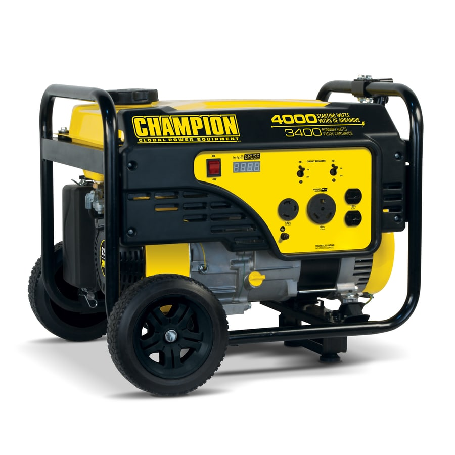 generator. Champion Power Equipment 3400-Running-Watt Portable Generator With Engine N