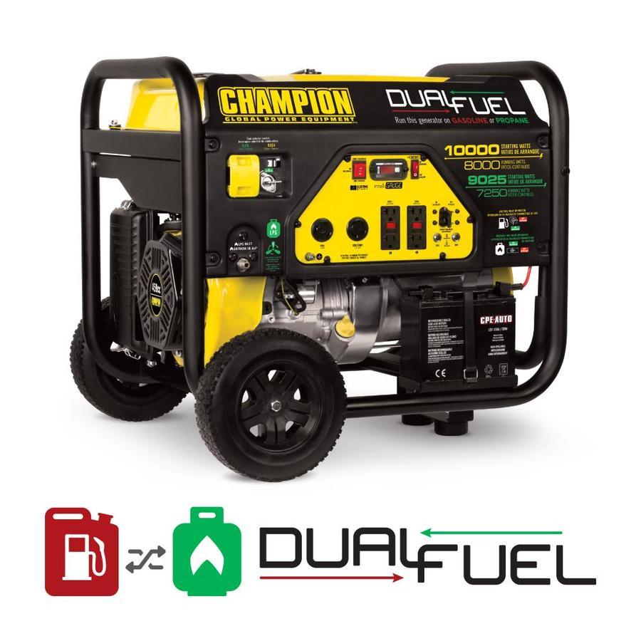 Champion Power Equipment 8000-Running-Watt Portable Generator with Engine
