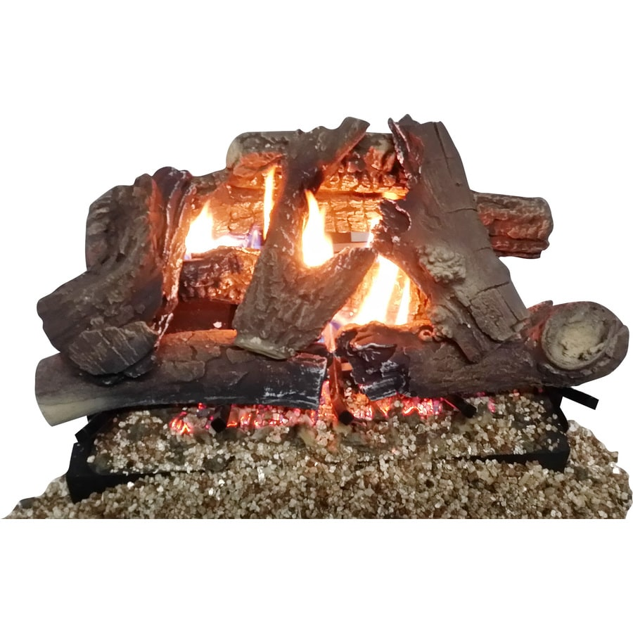 Thermablaster 23.62-in 40,000-BTU Dual Vent-Free Gas Fireplace Logs with Thermostat and Remote Control
