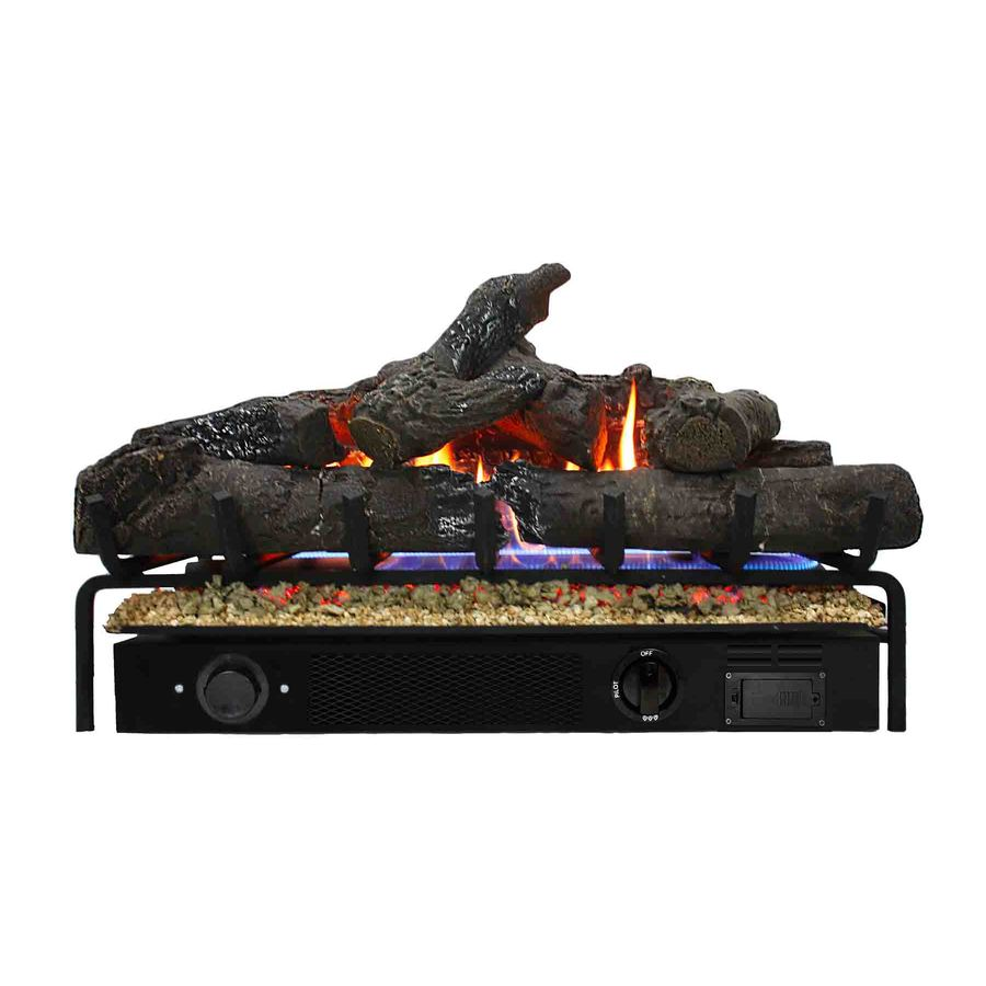 Shop Thermablaster 30 In 48 000 Btu Dual Vented Gas Fireplace Logs At